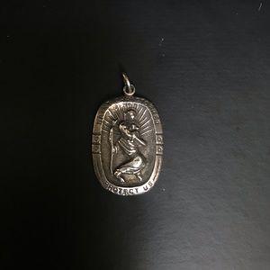 Saint Christopher Sterling Silver pendant 925 p5